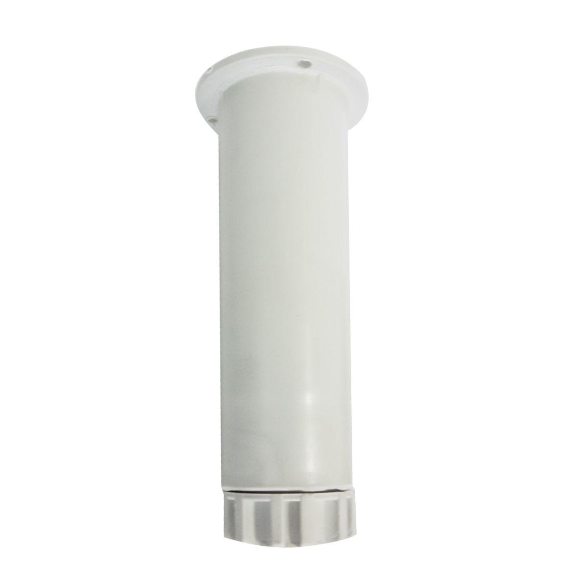Pé Armário Regulável 140mm À 160mm - Plastico Branco