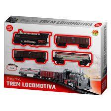 Pista Trem Locomotiva com Luz - à Pilha