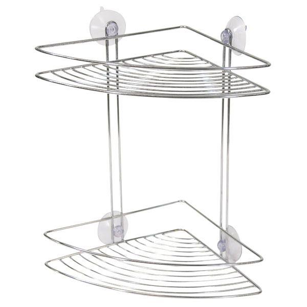 Porta Shampoo Cromado Duplo Com Ventosas Arthi