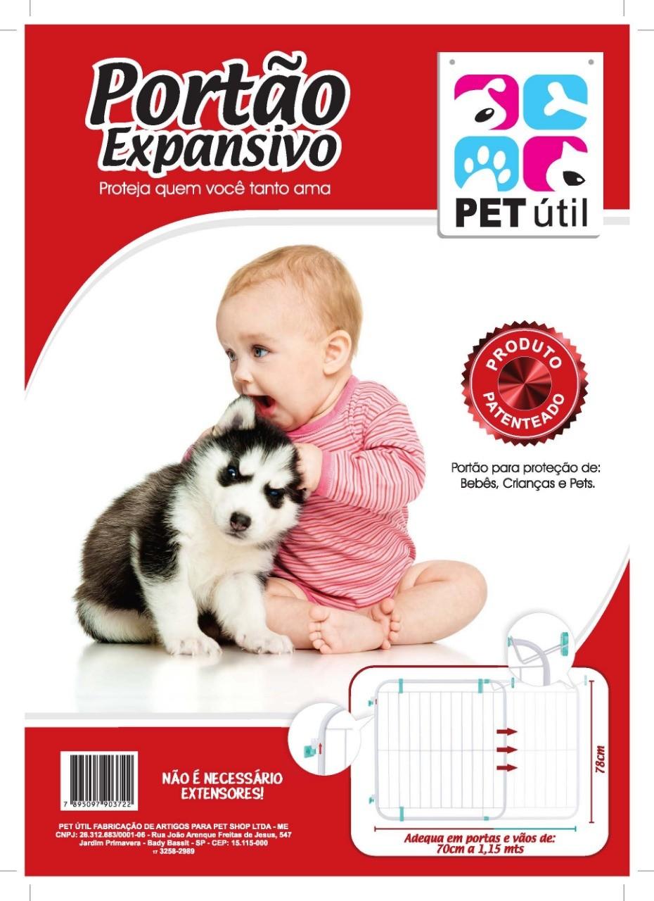 Portão Expansivo Para Criança e Pet