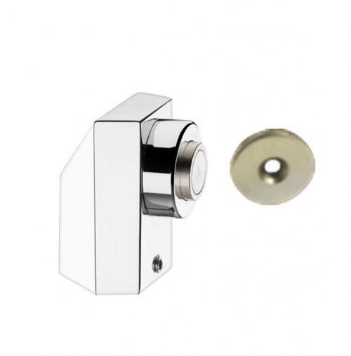 Prendedor de Porta Magnético Cromado - Prendedor de Porta Metálico