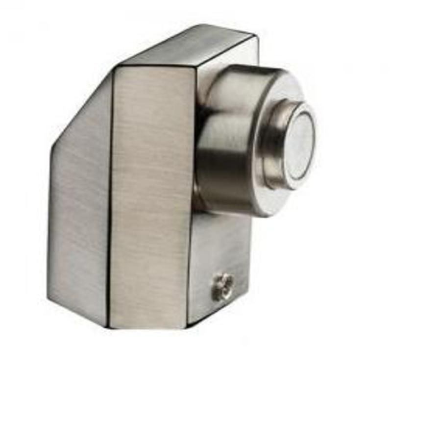 Prendedor de Porta Magnético Escovado - Prendedor de Porta Metálico