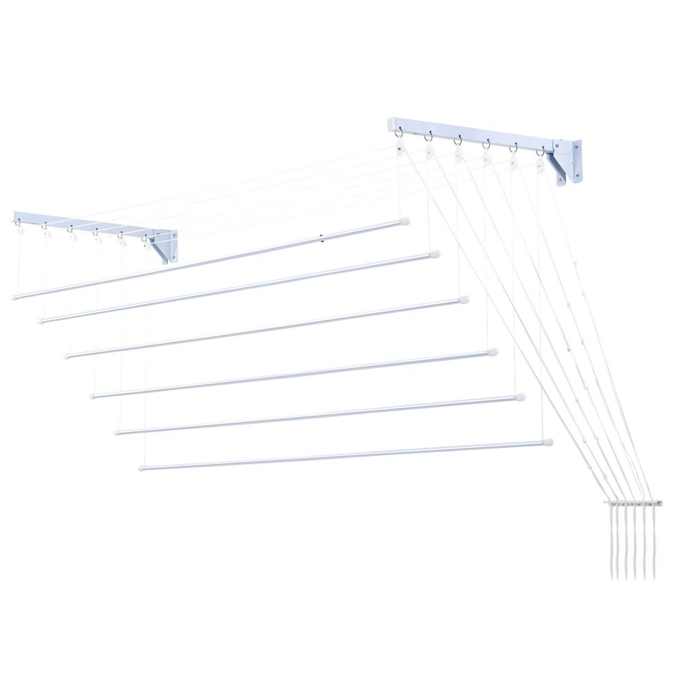 Varal Prático Secalux -Varal para Apartamento Teto ou Parede  - 1,4metros x 56cm
