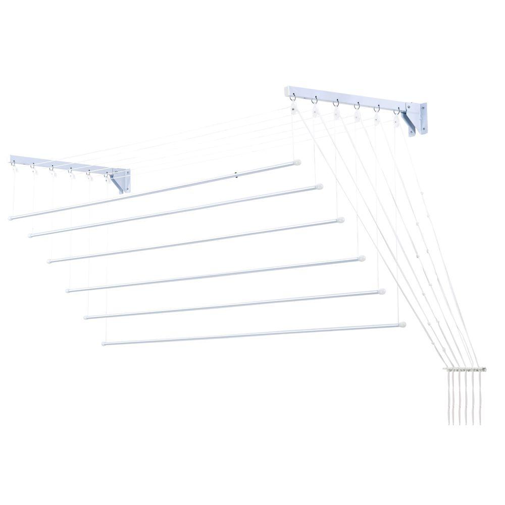 Varal Prático Secalux -Varal para Apartamento Teto ou Parede  - 1metro x 56cm