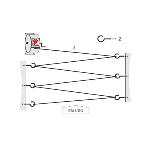 Varal Retrátil Stick Pratick com 30 Metros - Varal Recolhível