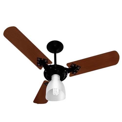 Ventilador de Teto 3 Velocidades Preto/Imbuia 220V