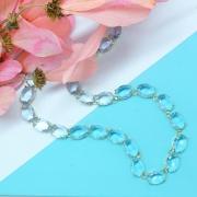 Colar riviera com pedras azuis transparentes, Família Revoada