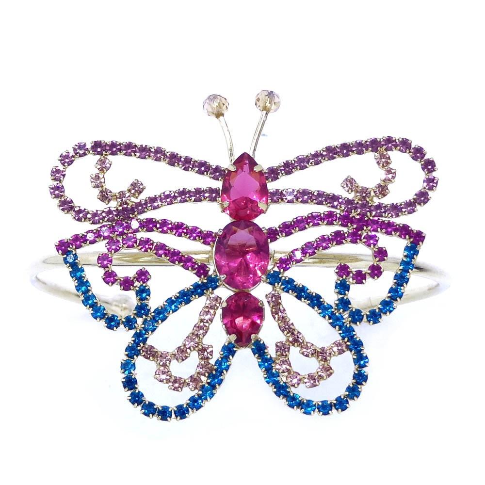 Bracelete borboleta pedras e strass, linha borboleta verao