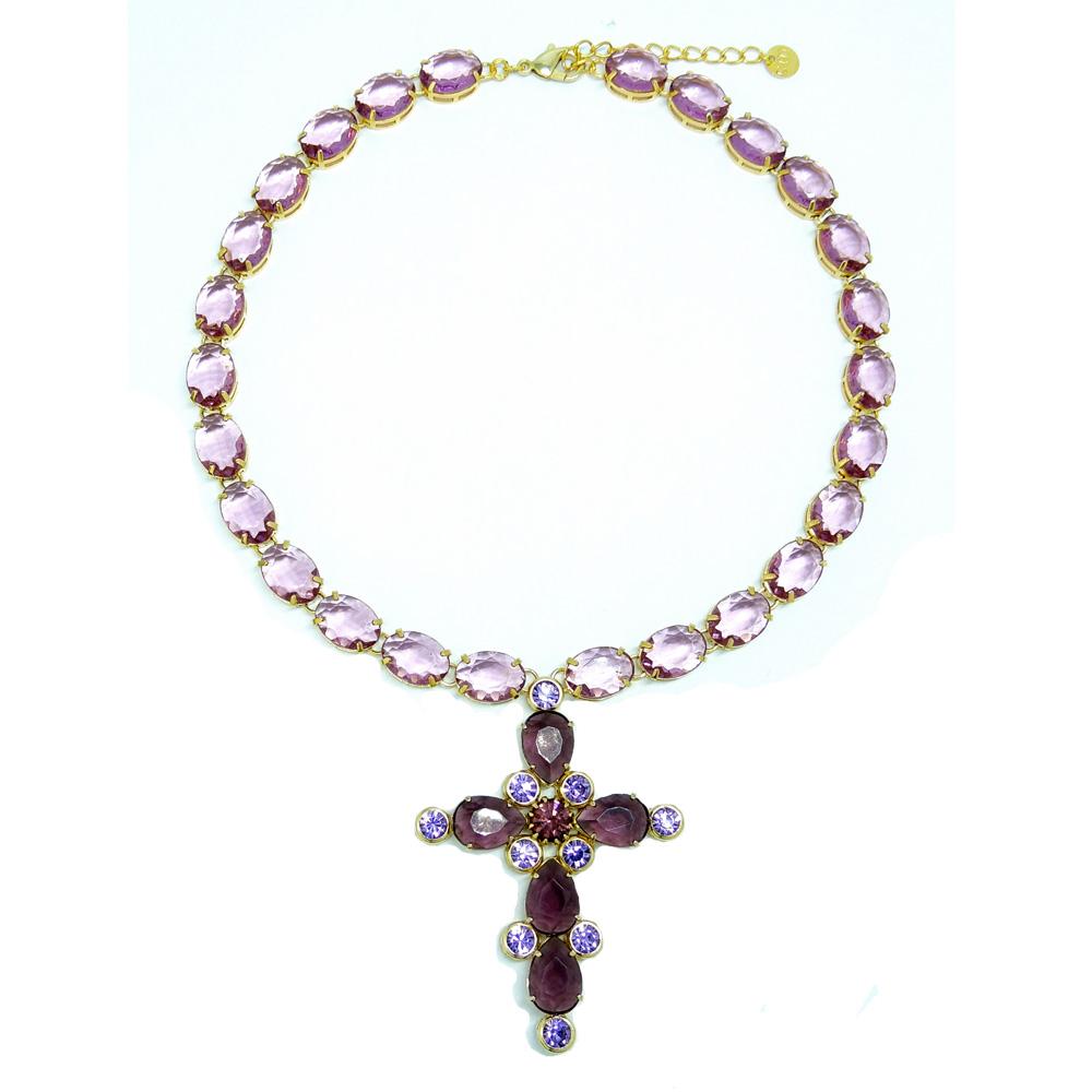 Colar cruz stone, família sacra
