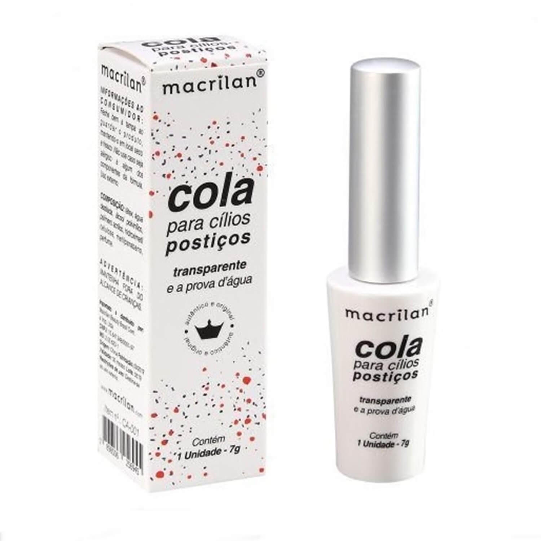Cola Para Cílios Postiços Transparente 7g - Macrilan
