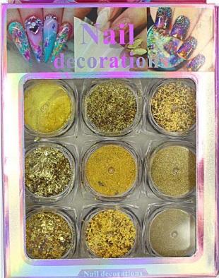 Kit 9 Glitter E Foil - Nail Art