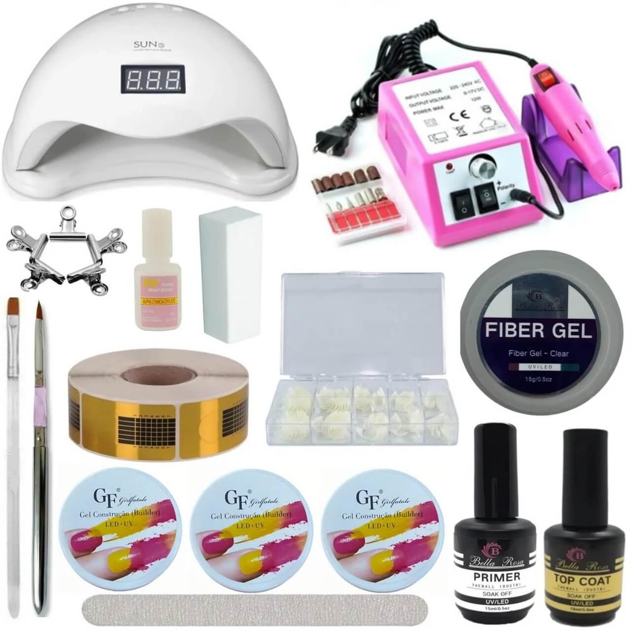 Kit Unhas Completo - Bella Rosa