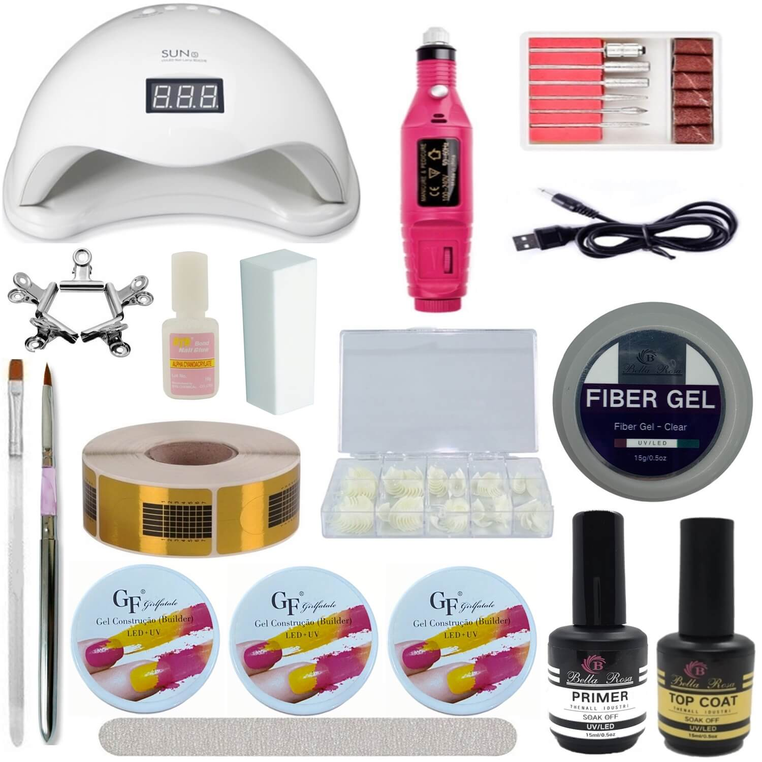 Kit Unhas Completo - Bella Rosa - B