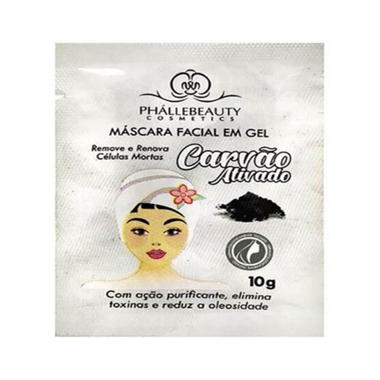 Máscara Facial Carvão Ativado Sachê - Phállebeauty