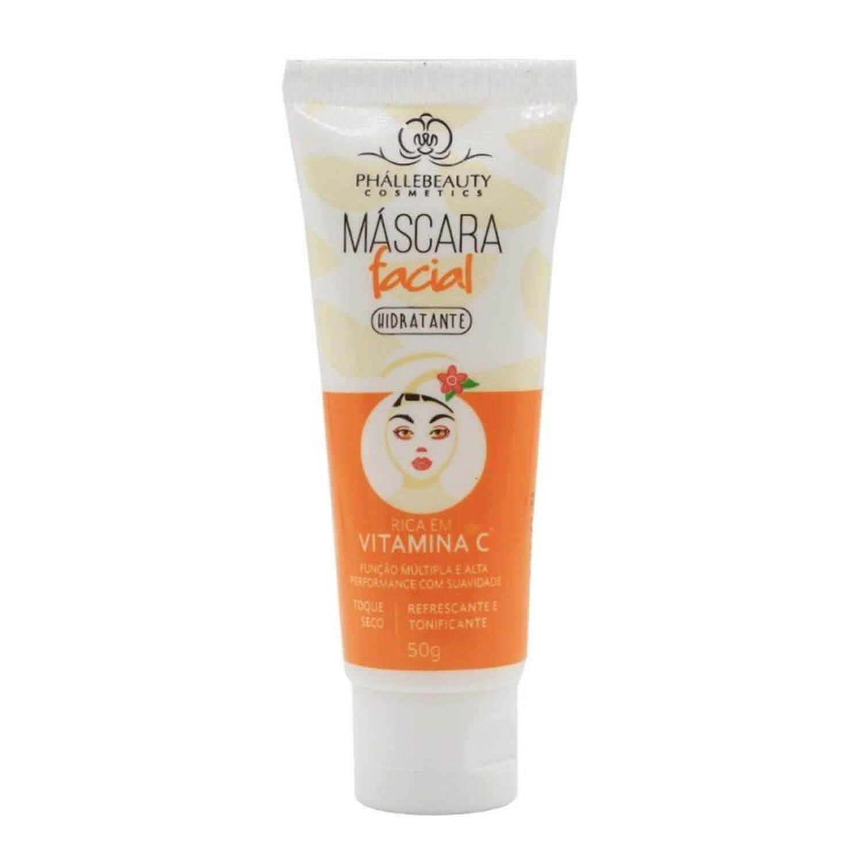 Máscara Facial Hidratante Rica em Vitamina C - Phállebeauty