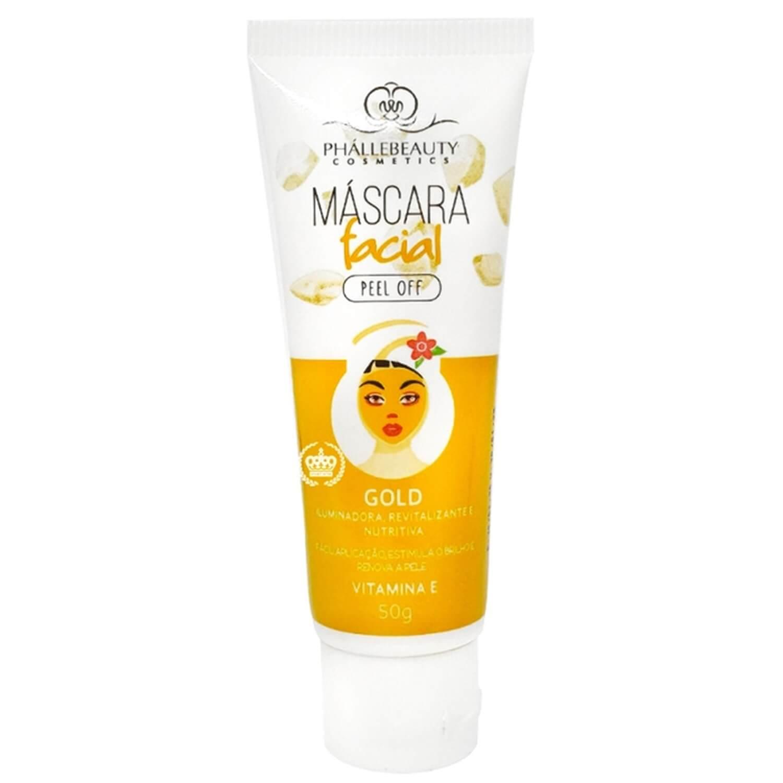 Máscara Facial Peel Off Gold - Phállebeauty