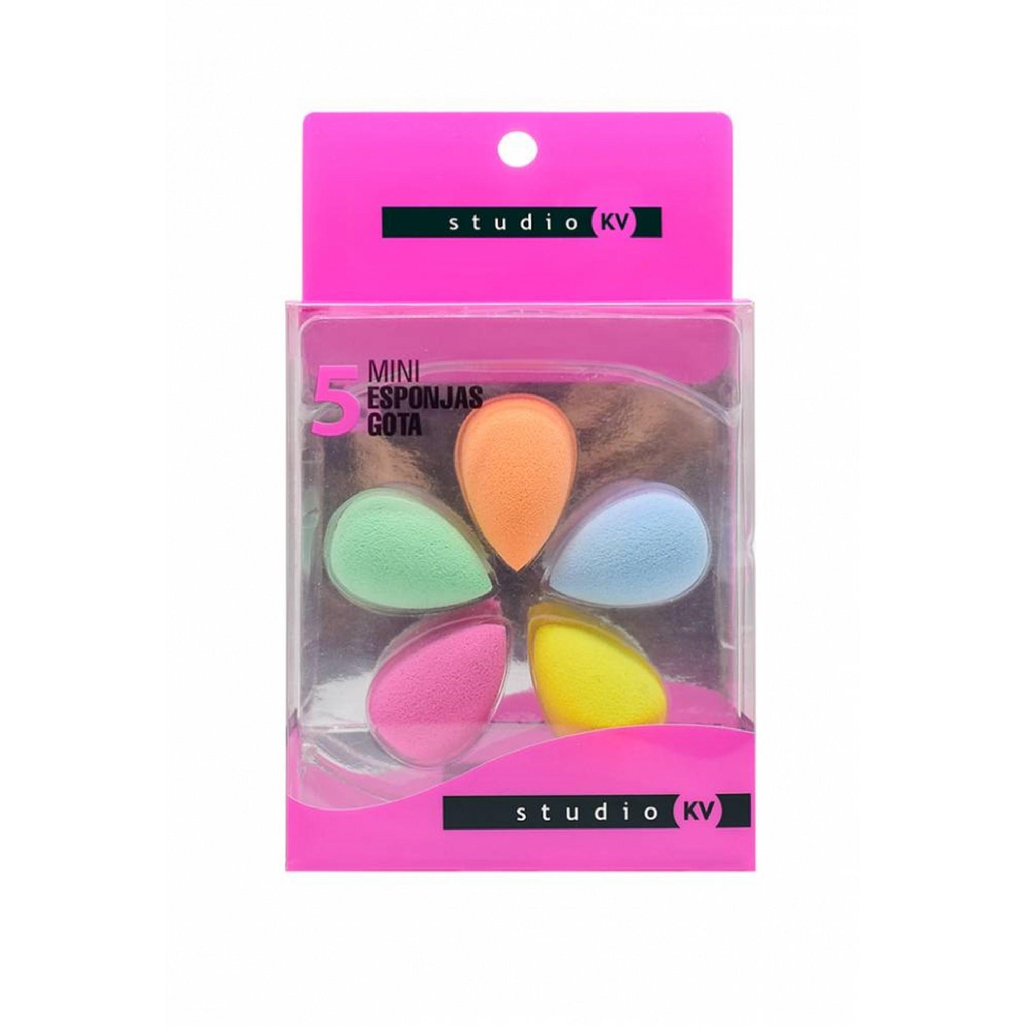 Mini 5 Esponja Gota Para Maquiagem - Klass Vough