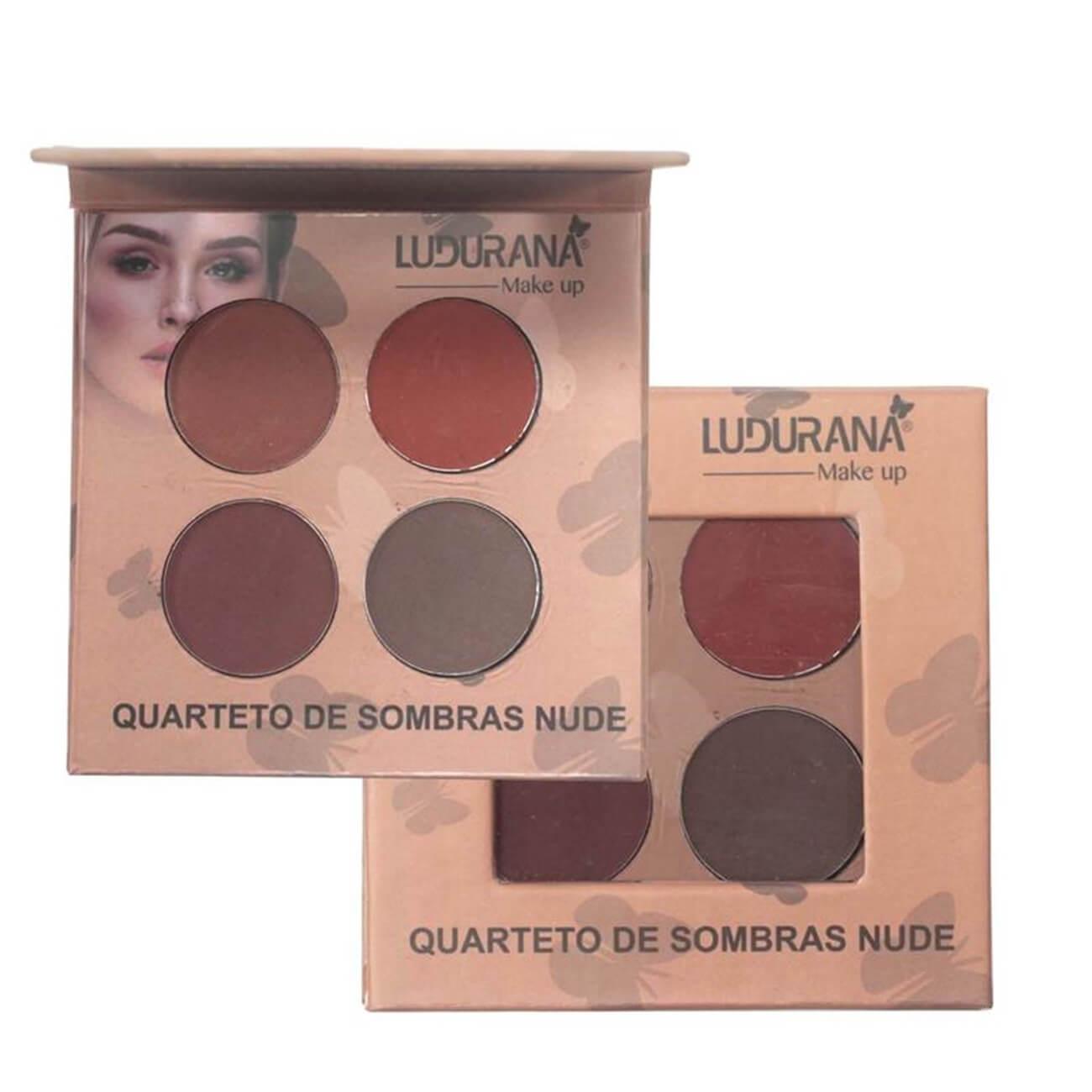 Quarteto de Sombras Nude - Ludurana Make Up