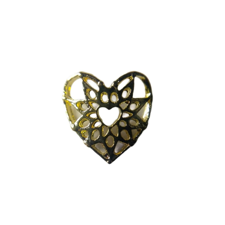 Par De Pedrarias Coração Aranha Dourado