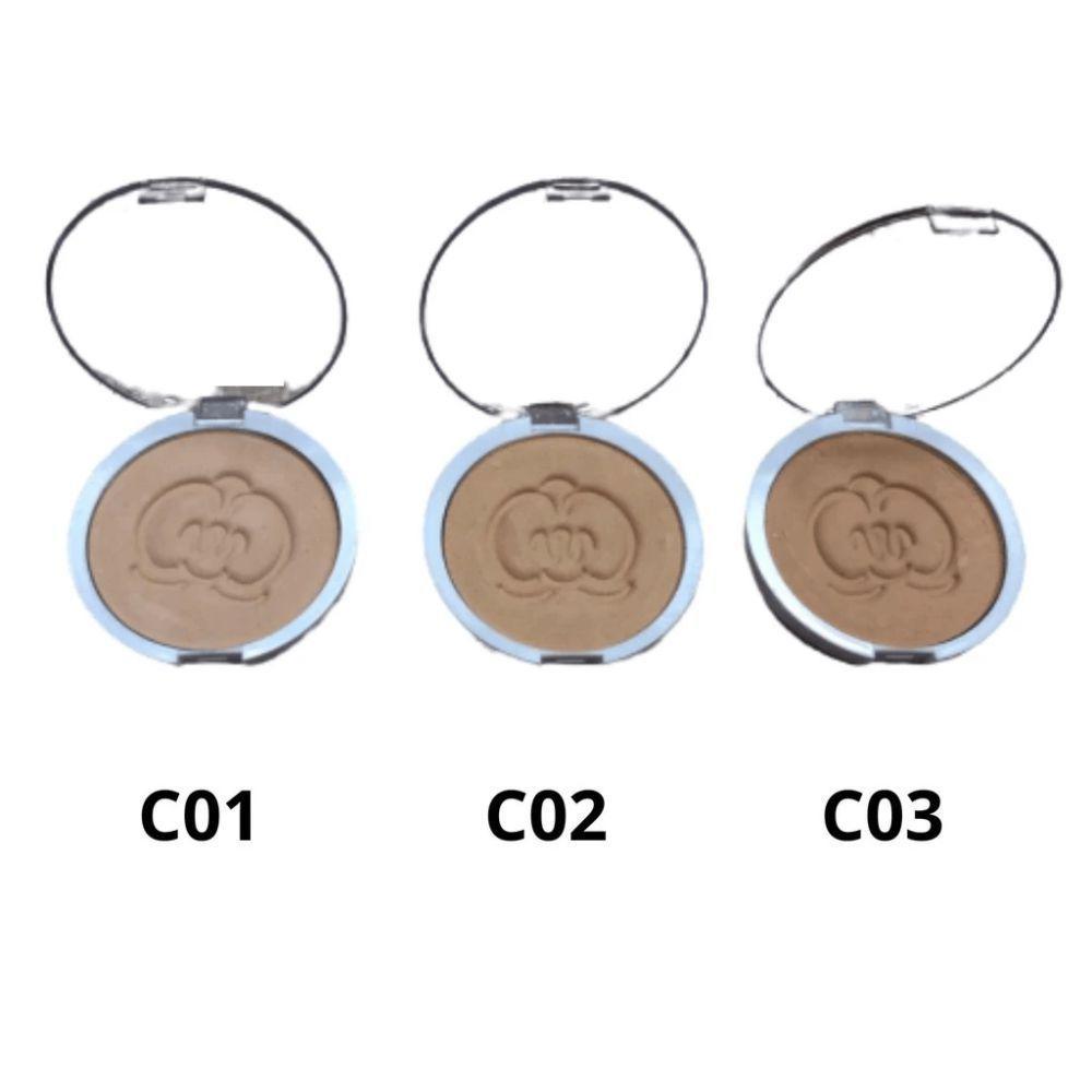 Pó Compacto Cor Escura - Phállebeauty