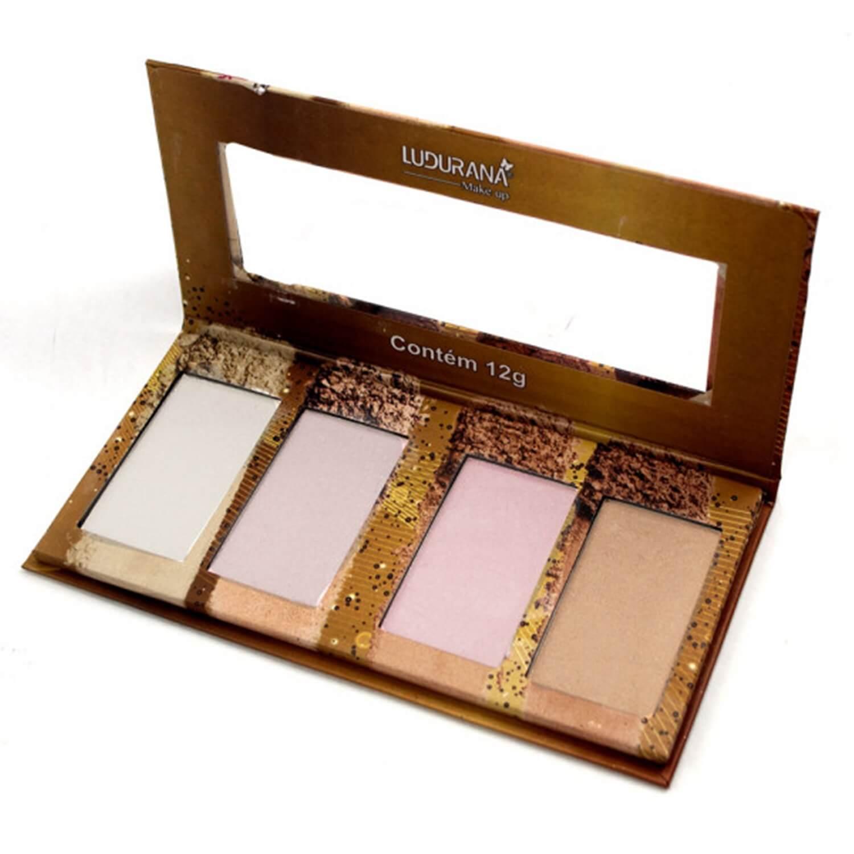 Quarteto De Iluminador - Ludurana Makeup