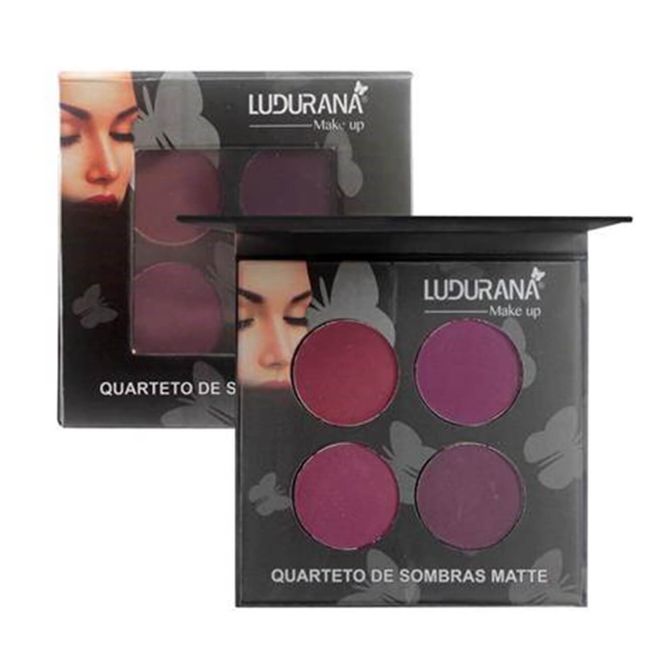 Quarteto de Sombras Matte - Ludurana Make up