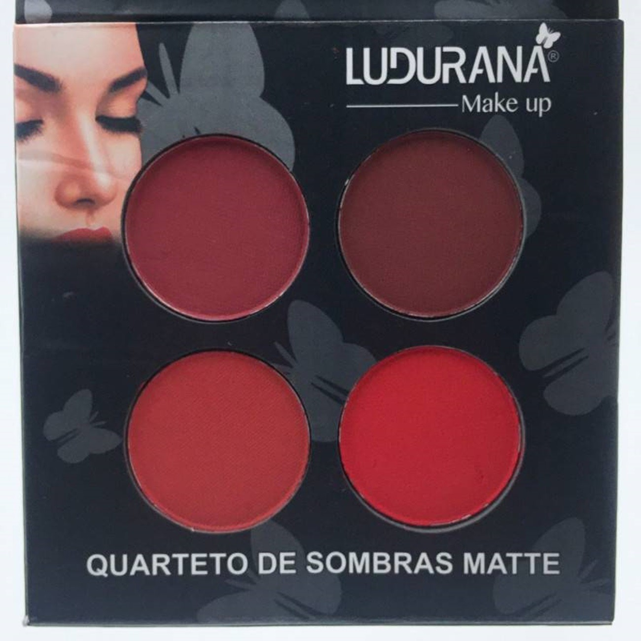 Quarteto de Sombras Matte - Ludurana Make up