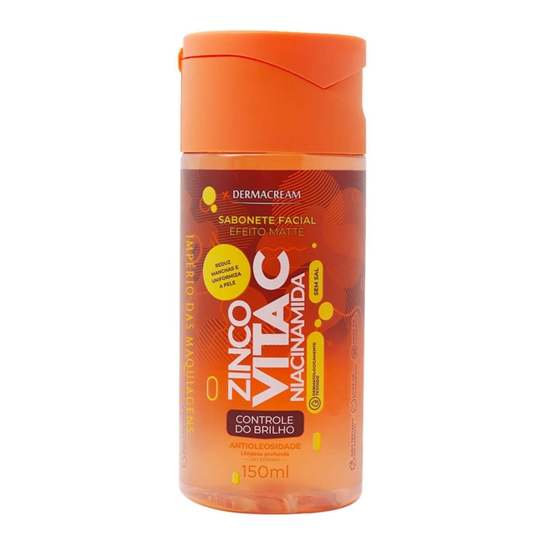 Sabonete Facial Matte Zinco e Vitamina C Niacinamida - Dermacream