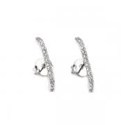 Ear Hook Zircônias Prata