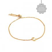 Pulseira Personalizada Cravejada Dourada