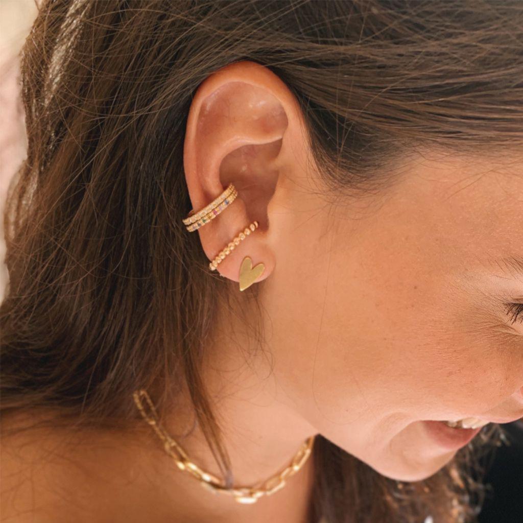 Earhook Bolinhas Dourado