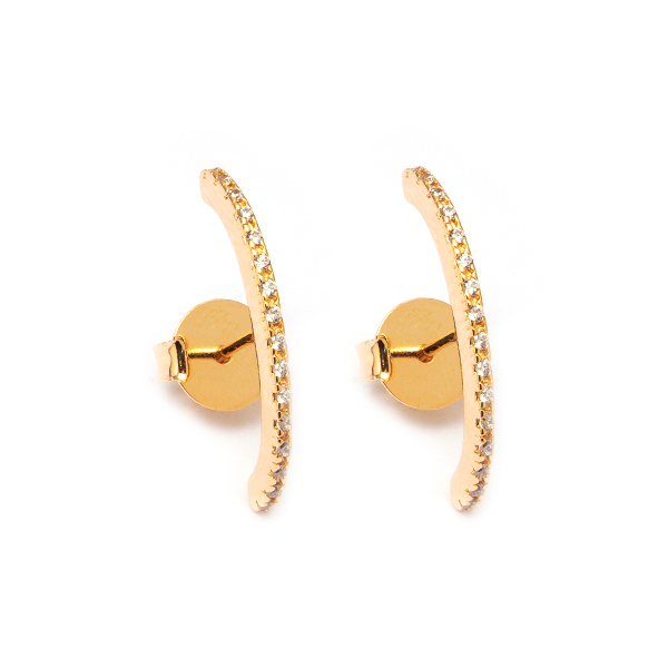 Ear Hook Cravejado Dourado