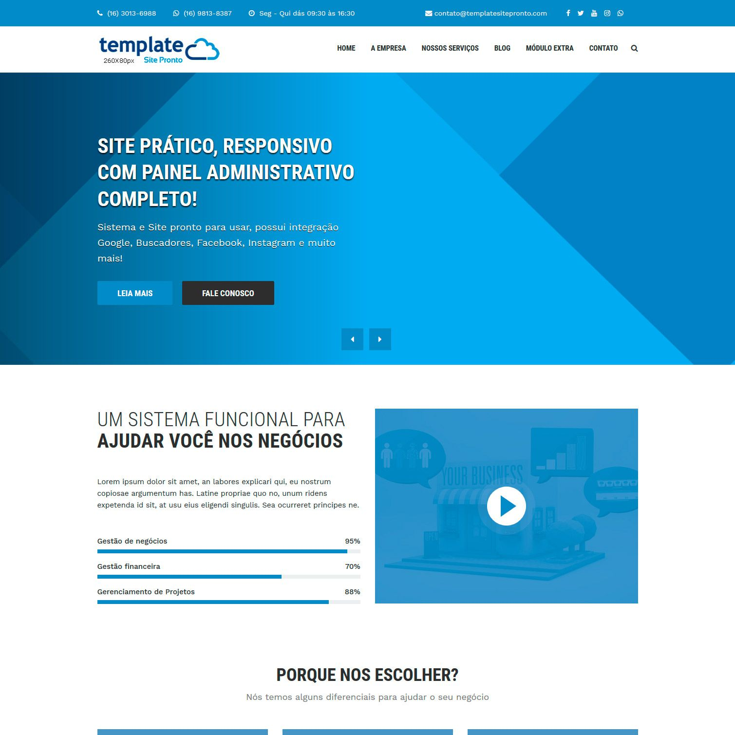 Site Institucional para Negócios Multiuso