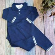 Conjunto Body + Calça Tricô Modal Kevin - Azul