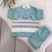 Conjunto Vestido Boneca - Azul Tiffany