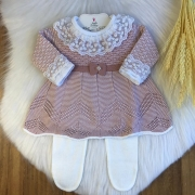 Conjunto Vestido + Calça  Angel - Rosê