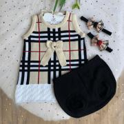 Conjunto Vestido + Tapa Fralda burberry - Bege e Preto