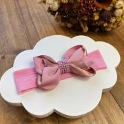 Faixinha Encanto Strass - Rosa Floral