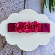 Faixinha Luxo Floral -  Pink
