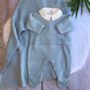 Saída de Maternidade Algodão Doce - Azul