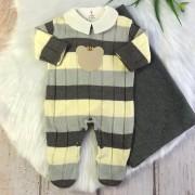 Saída de Maternidade Balu - ( Amarelo e Chumbo )