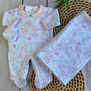 Saída de Maternidade Coelhinho Rosa - (COLEÇÃO OUTONO 2021)