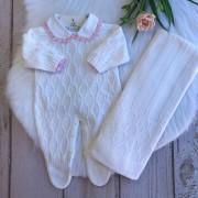 Saída de Maternidade Colmeia - Branco