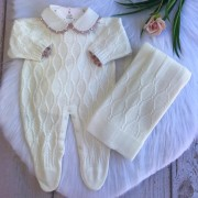 Saída de Maternidade Colmeia - Off White