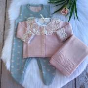 Saída de Maternidade Love - Rosa/Azul