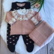 Saída de Maternidade Love - Rose/Marinho