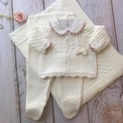 Saída de Maternidade  Petit être - Off white