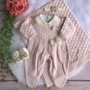 Saída de Maternidade Princess - Rosa