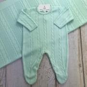 Saída de Maternidade Trançado - Verde