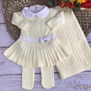 Saída de Maternidade Vestido Fernanda - Amarelo